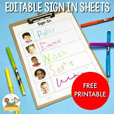 Free Daily Sign In Sheet For Preschool Pre K Pages
