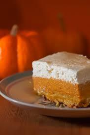 pumpkin crunch cake 1 can 29 oz pumpkin 1 can 13 oz evaporated milk 1 c sugar 3 eggs 1 tsp cinnamon 1 box duncan hines yellow cake mix 1 c pecans
