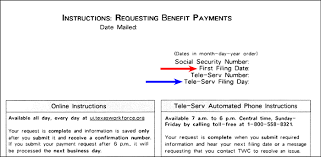 request benefit payments texas