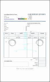 Garage Invoice Template Tutmaz Opencertificates Co