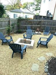 pea gravel backyard fire pit area home landscaping pictures
