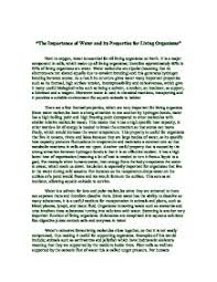 the importance of water and its properties for living organisms  page 1 zoom in
