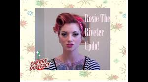vine hair tutorial pinup bandana updo rosie the riveter by cherry dollface