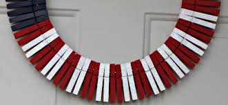 patriotic wreaths for front doorPatriotic Clothespin Wreath DIY  Caffeinated Army Wife