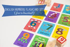 English Numbers Flashcard Printable  Gus On The Go Language Make Flash Cards Free