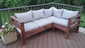 amazing outdoor sectional diy 2x4 stained wood simple nice cushions white farmhouse style free plans ana g50