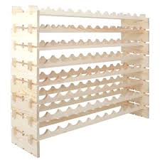 modular stackable storage wine rack stand display shelves bottle 8 rows x stacking cubes