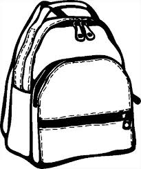 Small Picture Education School Backpack Colouring Page Colouring Tube