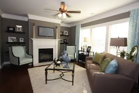 Living Room Brown Color Scheme Blue Brown Grey Color Scheme In The Family Room Cottages At