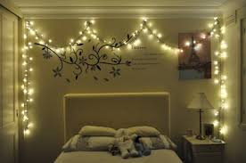 Light decoration for bedroom String We Heart It Christmas Lights In The Bedroom Home And Decor