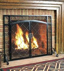 fireplace screen with glass doors s s fireplace glass doors with spark screen fireplace screen