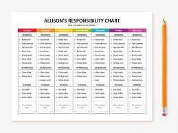 Chore List Template Elegant Beautiful Chores Calendar Template Free