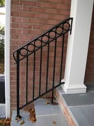 diy exterior metal handrail. metal railing on steps diy exterior handrail n
