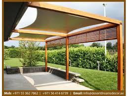 backyard pergola uae wooden shades wooden structures uae