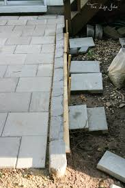here this diy paver patio was actually a much more manageable project than we expected