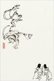 メール便可 デザインはがき 国宝 鳥獣人物戯画 Japan2019