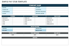 Payroll Stubs Templates Extraordinary Simple Pay Stub Template Excel Google Docs Bestuniversities