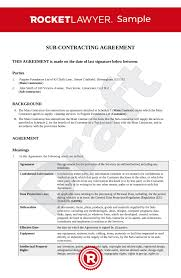 Create a high quality document online now! Subcontractor Agreement Uk Template Make Yours For Free