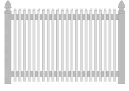 white fence post. Elite Standard Vinyl Picket Fencing White Fence Post T