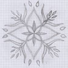 patterns to draw on graph paper simple flower design draw on paper cool patterns and designs for