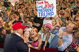 Image result for president Trump in evangelical crusade