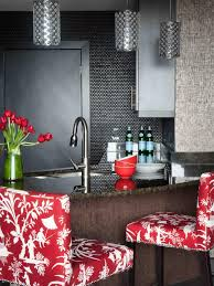 Red And White Kitchen Glass Tile Backsplash Ideas Pictures Tips From Hgtv Hgtv