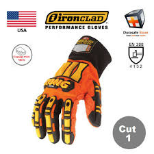 Ironclad Kong Original Impact Slip Resistant Mechanics Glove Orange Usa Size S 3xl Durasafe Shop