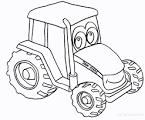 Детские трактора раскраска