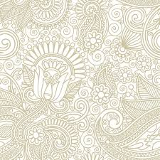 Pattern Background Vector Fascinating Seamless Flower Paisley Design Background Royalty Free Cliparts