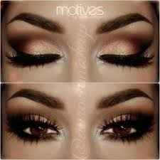eye makeup for brown eyes. beautiful we shadow look with brown and gold eye ! makeup eyes for y