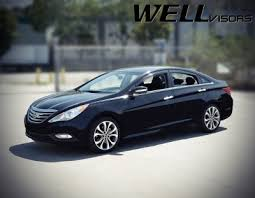 hyundai sonata 2014 black. Interesting 2014 Hyundai Sonata 20112014 Smoked Side Window Vent Visors Deflectors Rain  Guard Shade Black Trim For 2014 N