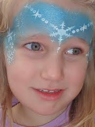 frozen princess face painting design