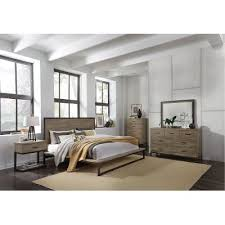 modern queen bedroom sets. Industrial Modern Pine \u0026 Metal 6 Piece Queen Bedroom Set - Edgewood Sets