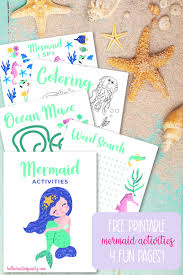Free shapes coloring pages, circle coloring page printouts & pattern sheets for preschoolers to use with educational shape lesson plans or to print & color. Mermaid Activities Free Printabledownload Hello Creative Family