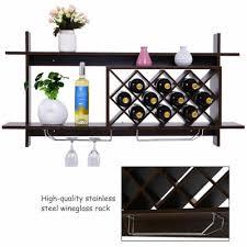 wall mount wine rack organizer with