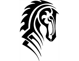 tribal horse head silhouette. Interesting Silhouette Horse Tattoos Pictures 2377662 License Personal Use For Tribal Head Silhouette G