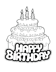 Birthday Coloring Pages Free Birthday Coloring Pages Free Free