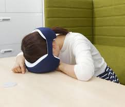 Office nap pillow Wrap Around You Get To Take You Nap In Peace Unlike Sleeping Masks This Pillow Bears Unique Design Which Looks No Where Silly If Thats Too Much Of Concern Medium 15 Clever Gadgets For Napping On The Go Gadget Flow Medium