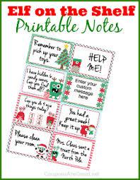 Elf on the shelf printable notes 250
