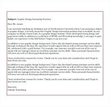 Cover Letter Examples Internships Best Ideas Of Sample Graphic
