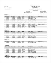 Event Itinerary Template Delectable Sports Schedule Template 44 Free Word PDF Documents Download
