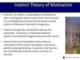What Do We Call Biologically Determined Innate Patterns Of Behavior