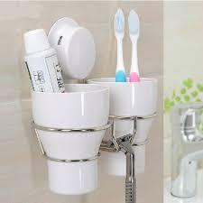 Decorative Bathroom Accessories Sets Hot wall toothbrush holder set 100 wash tooth brush mug Storage 14