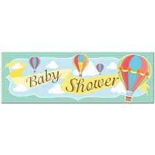 baby shower banners hot air balloon giant baby shower banner