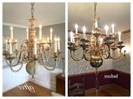 home improvement painting brass chandelier with chalk paint how to