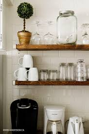 Kitchen Wall Shelf 17 Best Ideas About Floating Shelves Kitchen On Pinterest Open