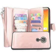 Flip 2 Case 12 In Motorola Moto With Luxury Card Strap Slots Detachable Wallet Play 1 Wrist Case Lacass And Forge G6 For Pu Leather