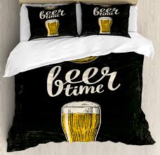 image is loading modern duvet cover set with pillow shams beer