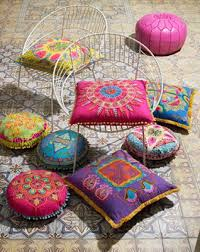 suzani style embroidered pillows fabulous chairs bohemian style furniture