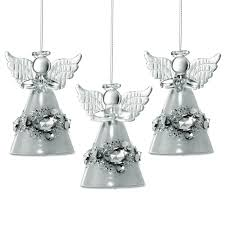 Sikora Christbaumschmuck Aus Glas Engel Mit Kristallen 3er Set H 7cm Caspar Taschen